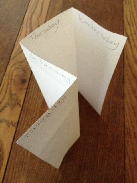 The Old Folded Paper Trick