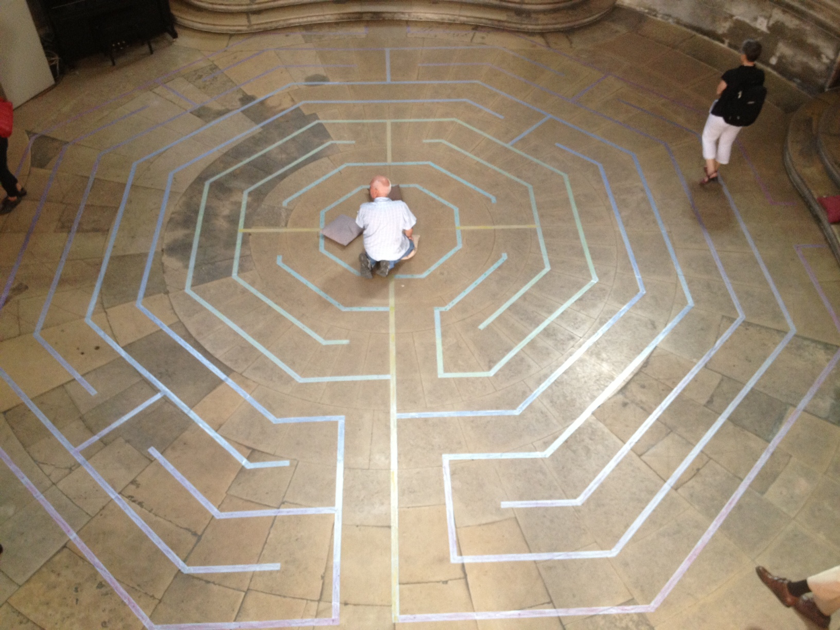 Labyrinth as interactive prayer space