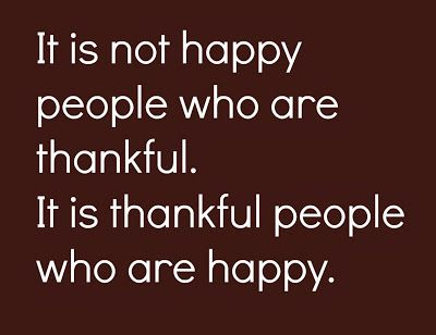 Happy People – Thankful People