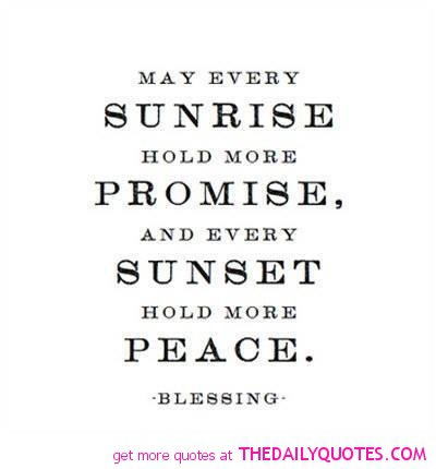 the blessing of sunrise and sunset pray like a gourmet