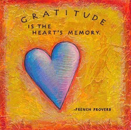 Gratitude is the Heart's Memory