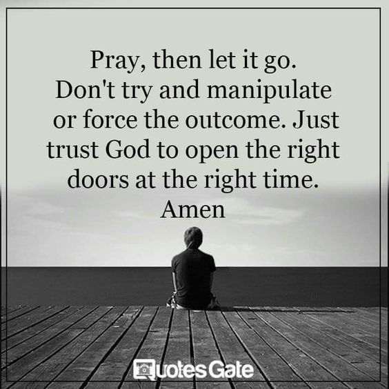 Pray, then let it go... - Pray Like a Gourmet